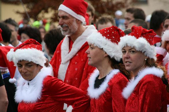 Eine ganze Nikolaus-Gruppe wartet auf den Startschuss