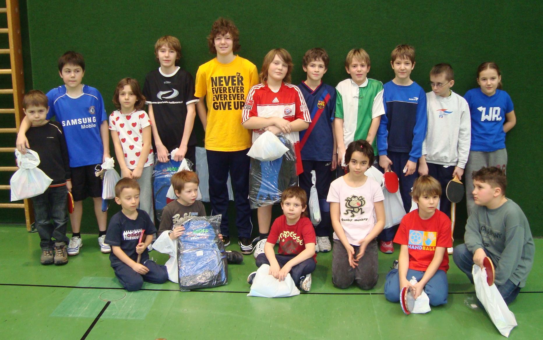 Die Tischtennisminis 2009