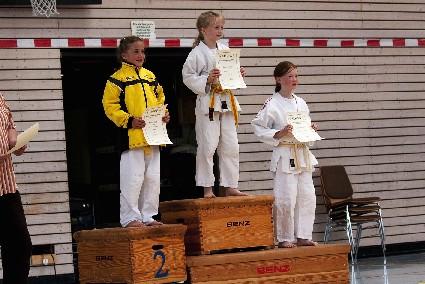 Dana Schimpf (ganz rechts) erkämpfte den 3. Platz